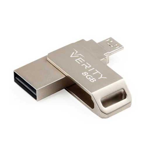 فلش OTG با ظرفیت 8 گیگ Verity مدل O510