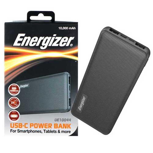 پاوربانک Energizer مدل UE10044 با ظرفیت ۱۰۰۰۰ میلی آمپر