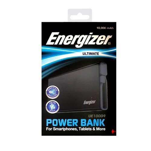 پاوربانک Energizer مدل UE 10004 با ظرفیت ۱۰۰۰۰ میلی آمپر