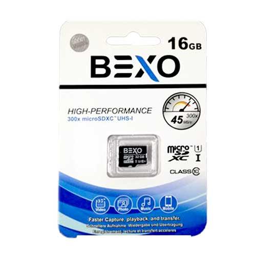 رم میکرو 16 گیگ Bexo کلاس 10 استاندارد UHS-I U1