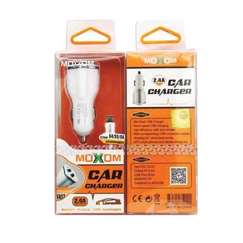 شارژر فندکی Moxom مدل Kc-07 همراه با کابل میکرو USB
