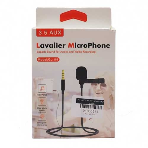 میکروفون یقه ای Lavalier مدل GL-119