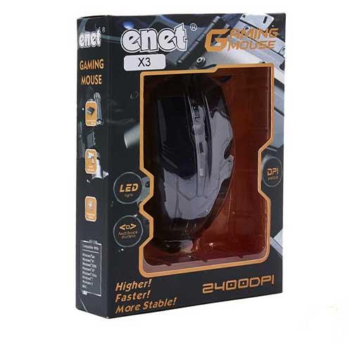 موس گیمینگ سیم دار enet مدل x3