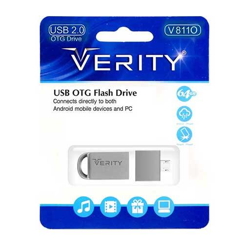 فلش OTG با ظرفیت 64 گیگ Verity مدل V811O