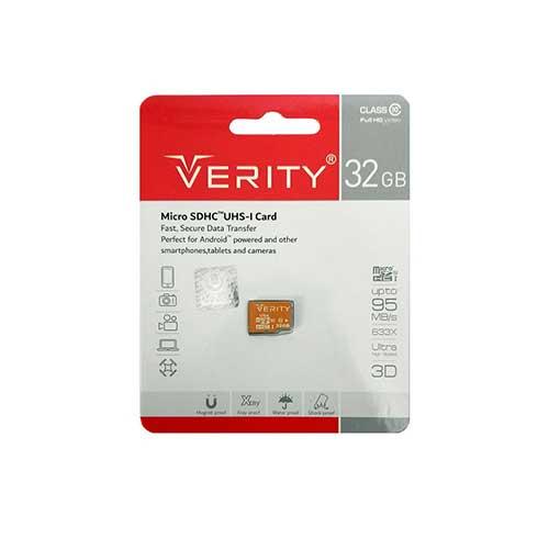 رم میکرو 32 گیگ Verity کلاس 10 استاندارد UHS-I U1
