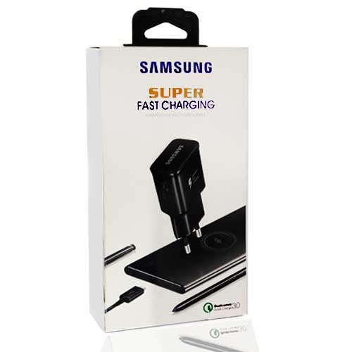 سرشارژر سامسونگ مدل Super EP-TA200 همراه با کابل میکرو USB
