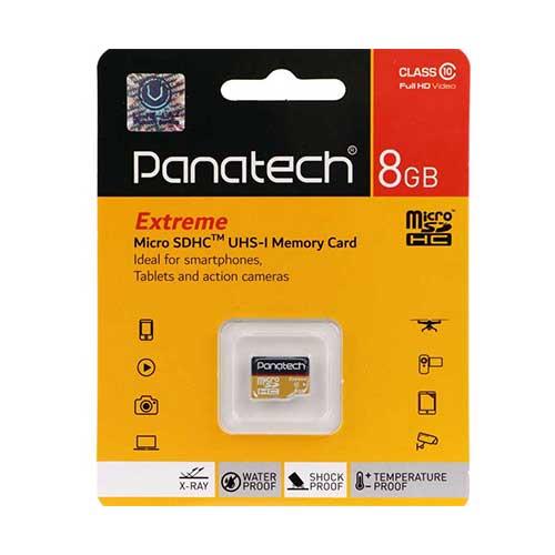 رم میکرو 8 گیگ Panatech کلاس ۱۰ استاندارد UHS-I
