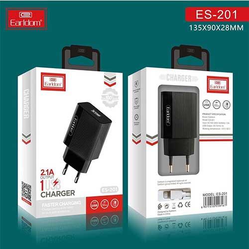 سرشارژر Earldom مدل ES-201 همراه با کابل میکرو USB