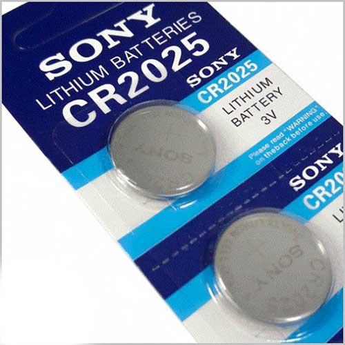 باتری سکه ای لیتیومی Sony مدل CR2025 بسته 5 تایی