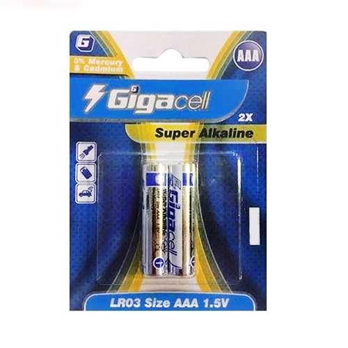 باتری نیم قلم آلکالاین Gigacell مدل Lr03