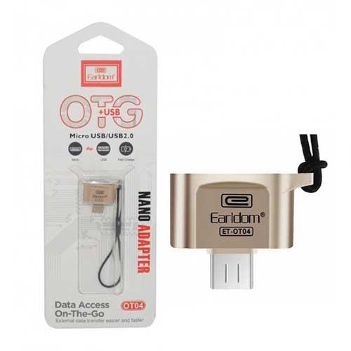 تبدیل OTG فلزی USB به اندروید مدل Earldom OT04