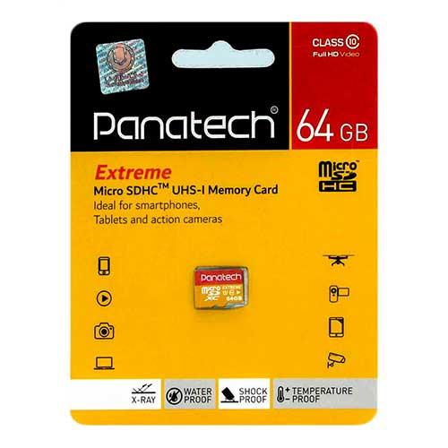 رم میکرو 64 گیگ Panatech کلاس ۱۰ استاندارد UHS-I
