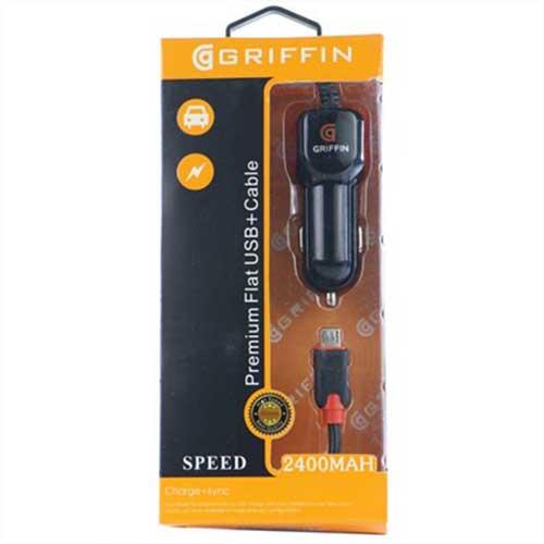 شارژر فندکی Griffin مدل PD-711C همراه با کابل میکرو USB