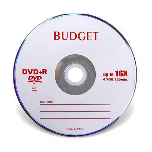 دی وی دی خام Budget پک 50 تایی
