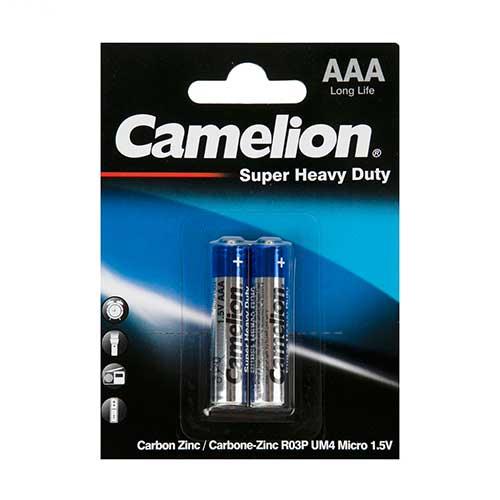 باتری نیم قلم Camelion مدل R03P UM4 Super Heavy Duty