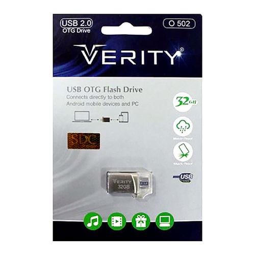فلش OTG با ظرفیت 32 گیگ Verity مدل O 502